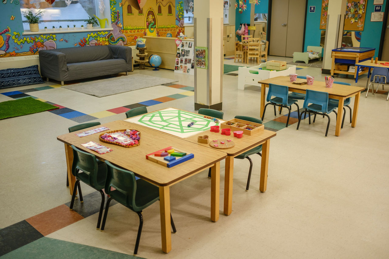 Glebe Co-operative Nursery School puzzle table